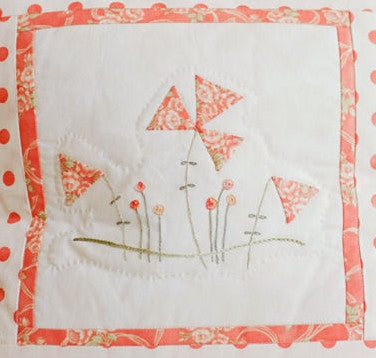 hand embroidered pillow e-pattern
