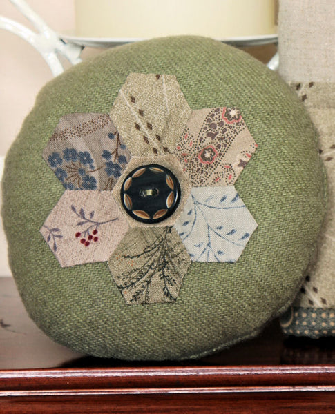 Hexagonal Needle Case and Pinchusion