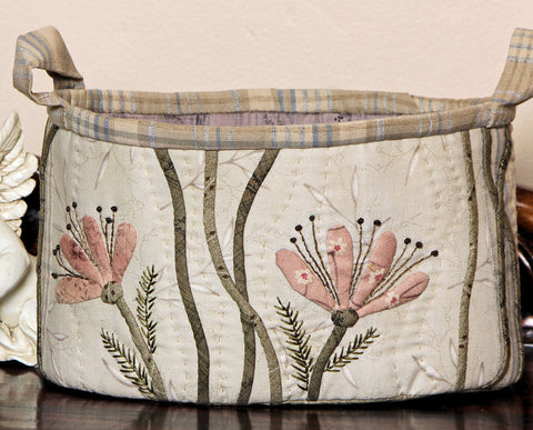 Lilies amongst the Reeds Appliqued Fabric Box