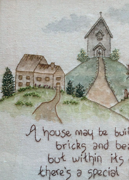 cottages hand embroidery pattern