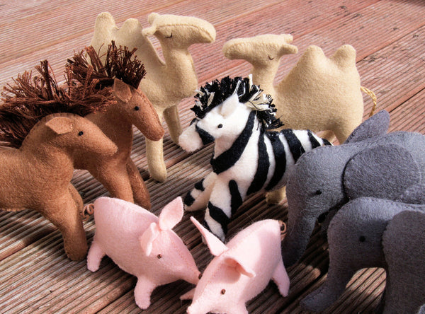 noahs ark felt pattern animals