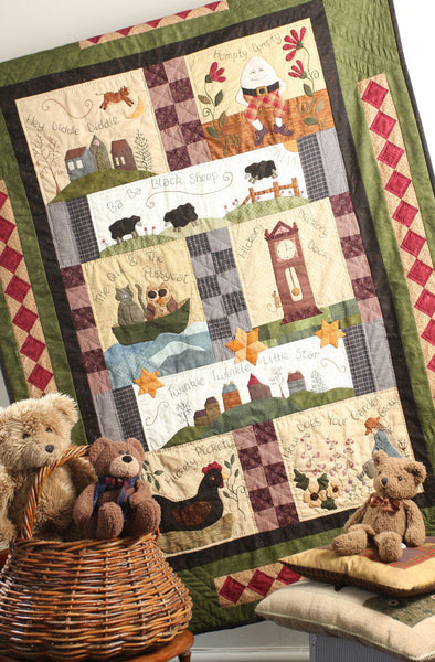 Nursery Rhyme Block of the Month Quilt Pattern Set