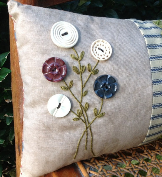 Button Bouquet Pillow