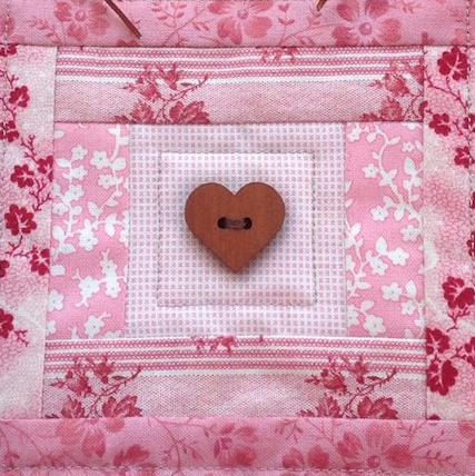 Mini Heart Wall Quilt