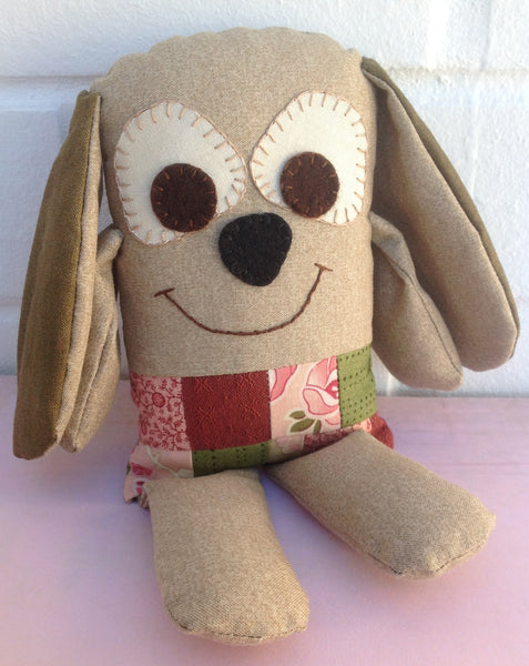 patchwork puppy softie