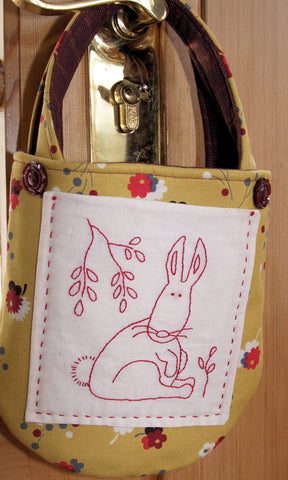 redwork bunny bag pattern
