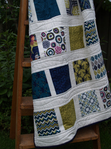 Floating Squares Easy Beginners Quilt pdf Pattern