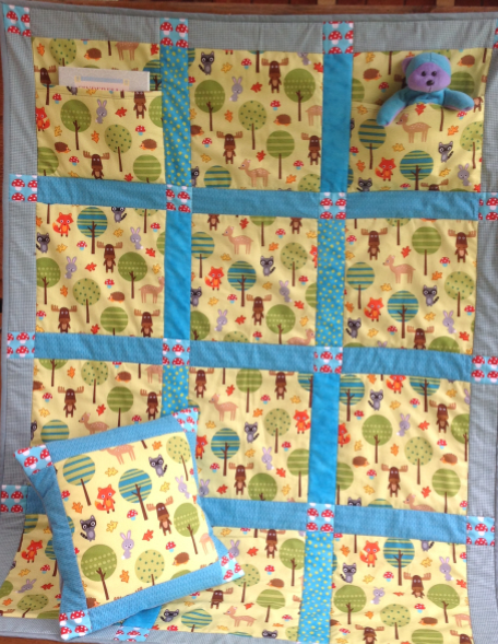 Teddy Pocket Quilt and Pillow