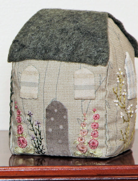 Three Little Embroidered Cottages