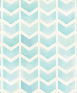Blue Watercolor Chevron Original