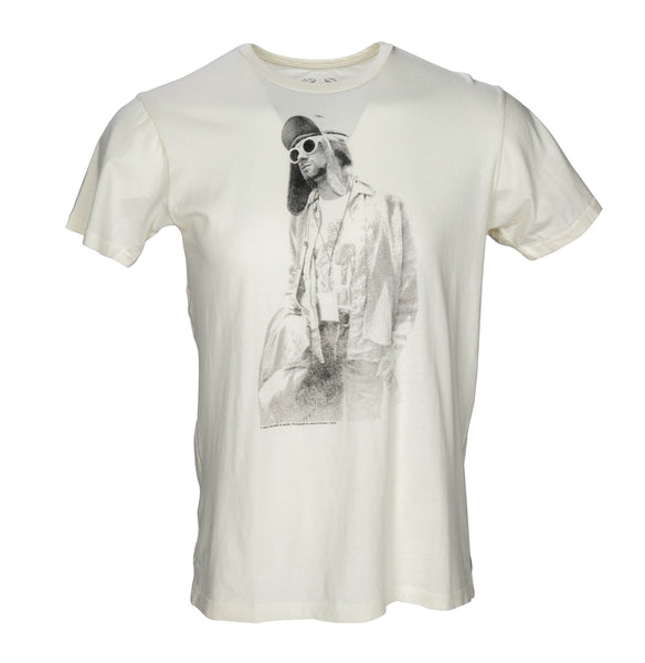 Kurt Cobain Bottle and Jacket Short Sleeve T-shirt - Ivory