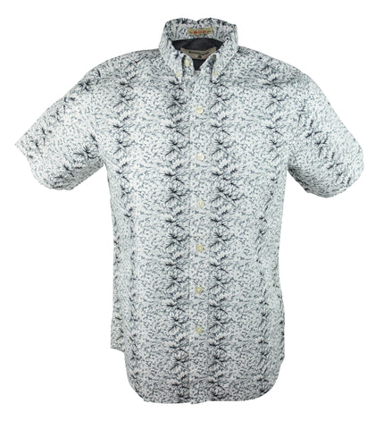 Flower Line Up Short Sleeve Shirt - Grey