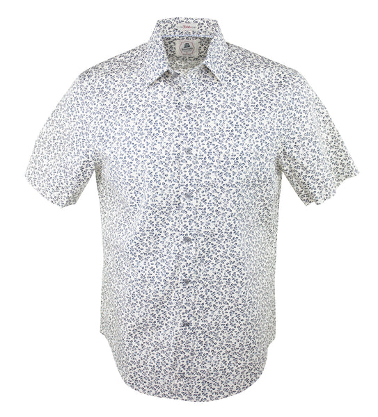 Little Leaf Short Sleeve Shirt - Navy