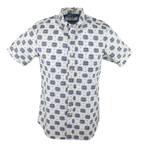 Badge Short Sleeve Shirt - Steel