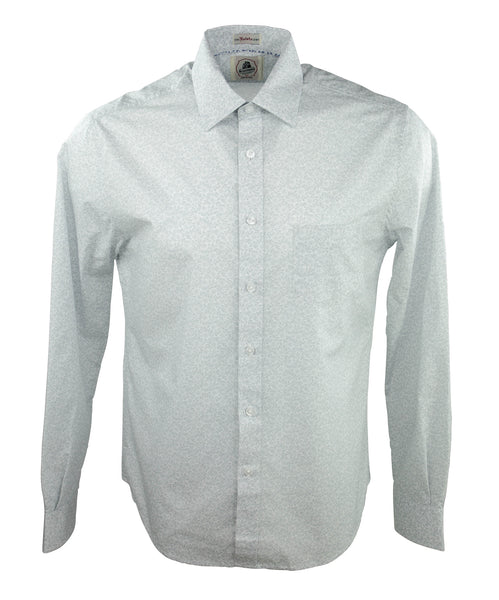 Trapped Flower Long Sleeve Shirt - Grey