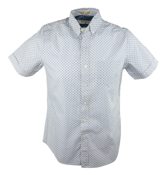 Fleur Square Short Sleeve Shirt - White