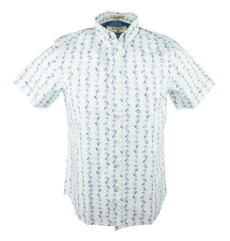 Fly Fish Short Sleeve Shirt - Blue