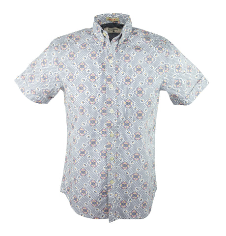 Bloom Short Sleeve Shirt - Sky
