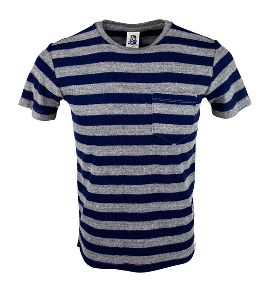 Pocket T - Stripe Navy