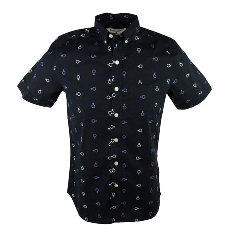 Equal Two Short Sleeve Shirt - Black