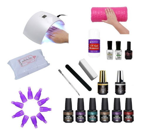 Esmaltado Permanente + Lámpara Led Uv 24w Profesional