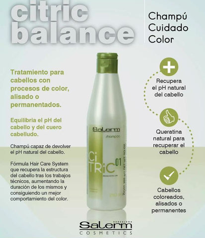 SALERM Shampoo Citric Balance 250 ml