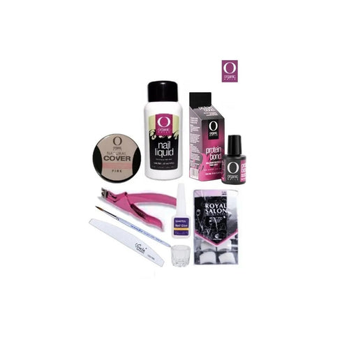 Kit Uñas Acrilicas Organic Nails Polímero Cover Monómero 30 ml