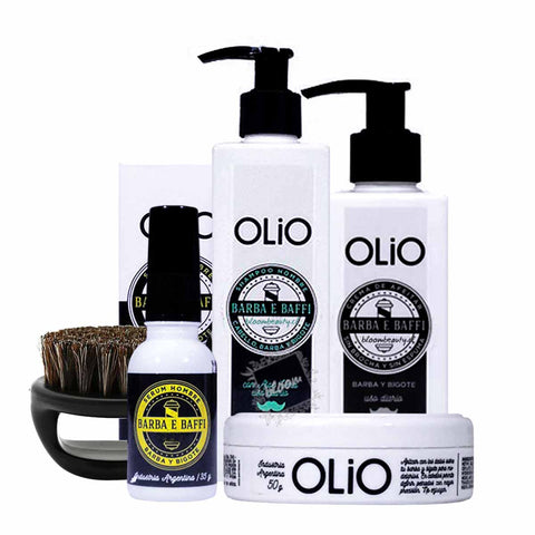 Kit Barba e Baffi OLIO + Cepillo de Barba
