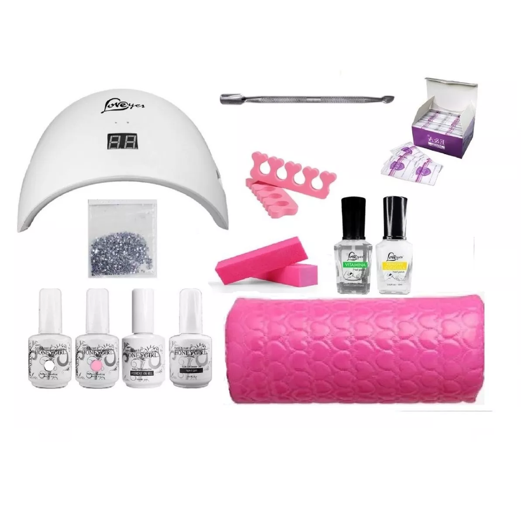 Kit Esmaltado Permanente Francesa Uñas/ Lámpara Led Uv