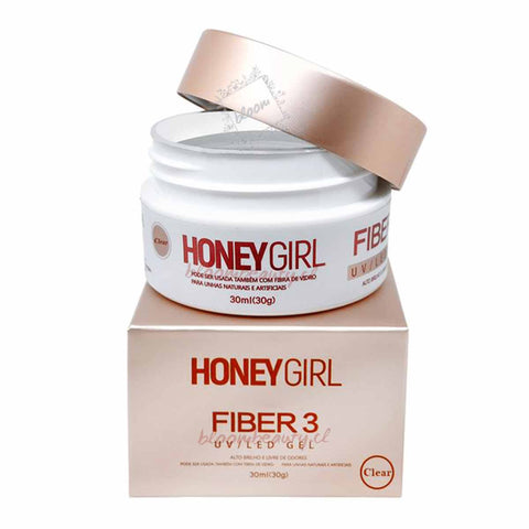 HoneyGirl® Fiber3 UV Gel Uñas 30g Clear