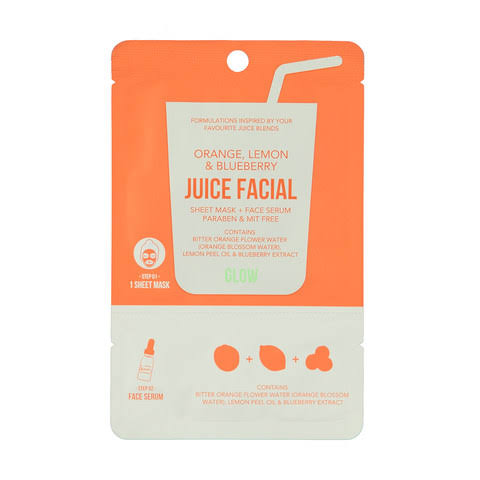 JUICE FACIAL máscarilla+serum Brillo