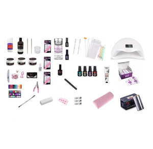 Kit Completo Manicure, Acrílicas, Permanentes, Gel Lampara Uv/Led