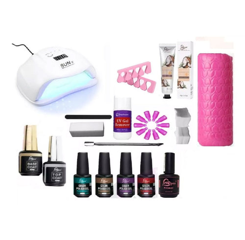 Kit Esmaltado Permanente Lámpara Led Uv 72w Sun 4 Plus