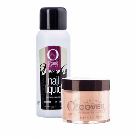 Kit Organic Nails,monomero 60ml+polimero 14g