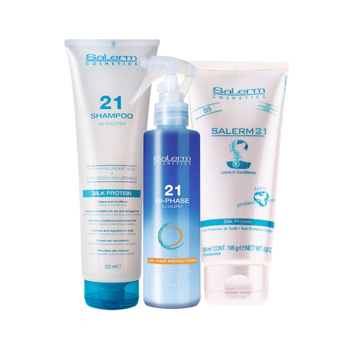 SALERM 21 Kit Shampoo + Bi-fase + Crema 200 ML
