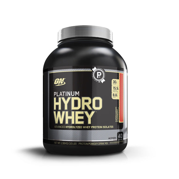 Optimum Nutrition (ON) Platinum Hydro Whey Supercharged Strawberry