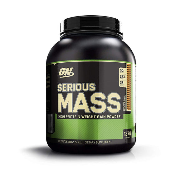 Optimum Nutrition (ON) Serious Mass Weight Gain Powder Chocolate Peanut Butter