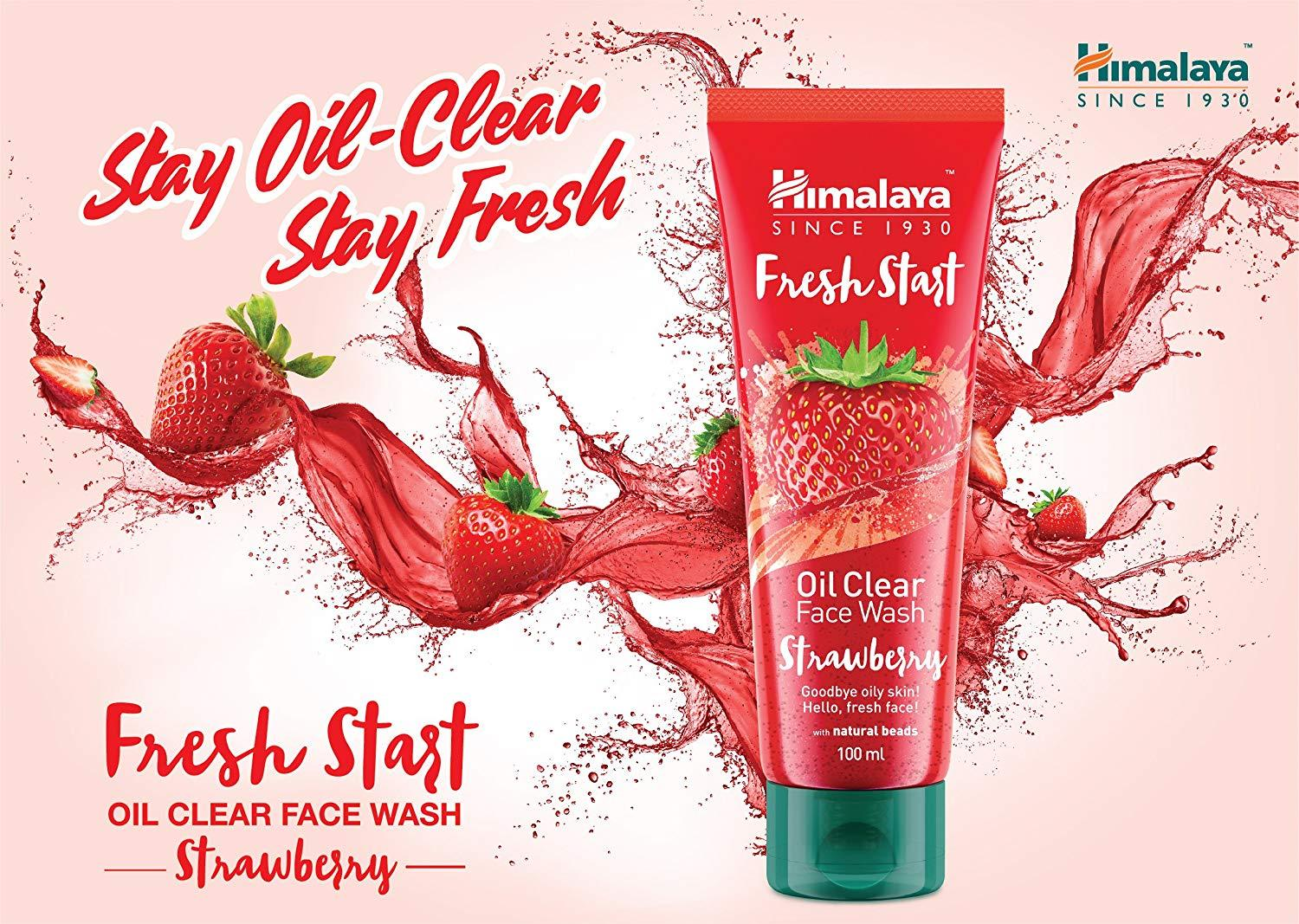 Himalaya Fresh Start Oil Clear Face Wash Strawberry – ayusmeds