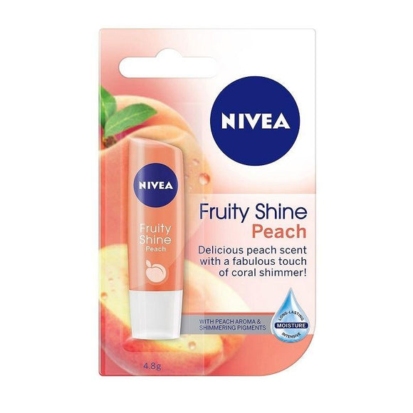 Nivea Fruity Shine Peach Caring Lip Balm