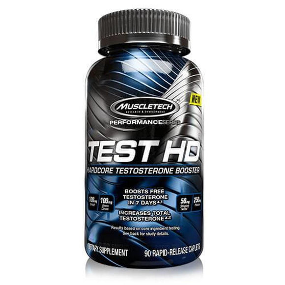 MuscleTech TEST HD 90 Caplets Hardcore Testosterone Booster