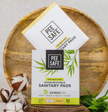 Peesafe 100% Organic Cotton, Biodegradable Sanitary Pads Regular
