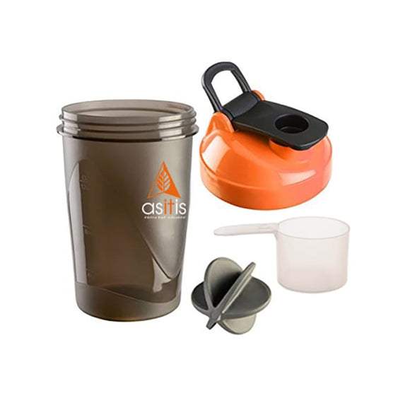 AS-IT-IS Nutrition Protein Shaker Bottle with Scoop (30g) & Mixer Ball