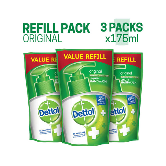 Dettol Original Liquid Handwash Refill (Buy 3, Save Rs. 64)
