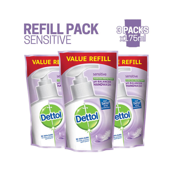 Dettol Sensitive Liquid Handwash Refill (Buy 3, Save Rs. 64)