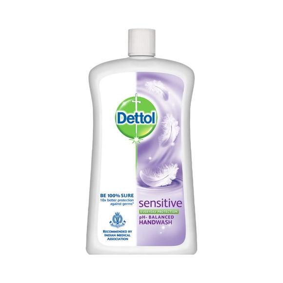 Dettol Sensitive Liquid Handwash - 900 ml with Free Liquid Handwash Pump (Any variant)