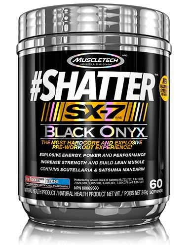 MuscleTech Nutrition Shatter SX-7 Black Onyx-Hardcore and Explosive