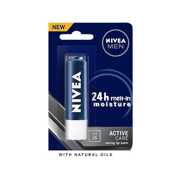 Nivea Men Active Care Lip Balm - SPF 15