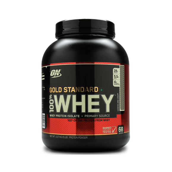 Optimum Nutrition (ON) Gold Standard 100% Whey Protein Powder Cookies & Cream