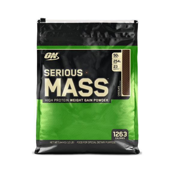 Optimum Nutrition (ON) Serious Mass Weight Gain Powder Chocolate