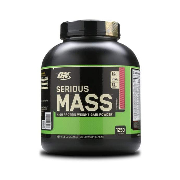 Optimum Nutrition (ON) Serious Mass Weight Gain Powder Strawberry